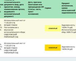 Скрин сайта ФССП 4