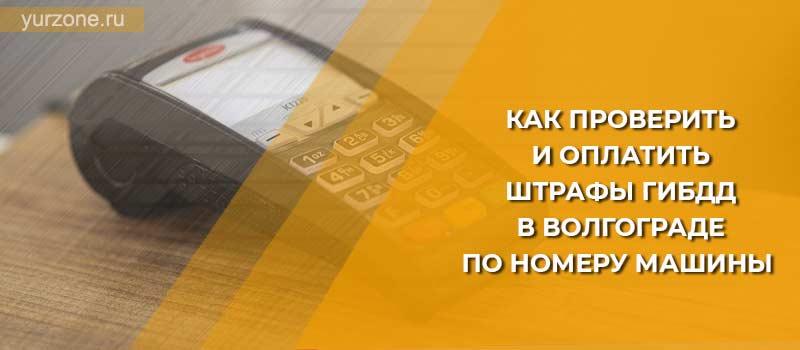 Как проверить и оплатить штрафы ГИБДД в Волгограде по номеру машины