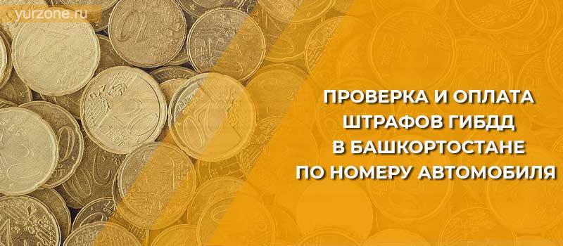 Проверка и оплата штрафов ГИБДД в Башкортостане по номеру автомобиля