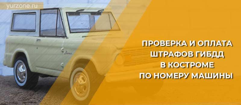 Проверка и оплата штрафов ГИБДД в Костроме по номеру машины