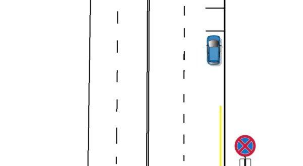Сочетания знака и линии разметки