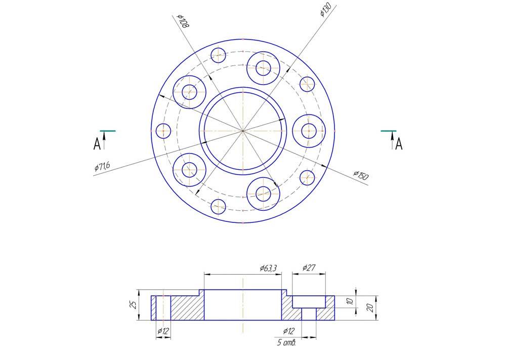 Разболтовка 5×108