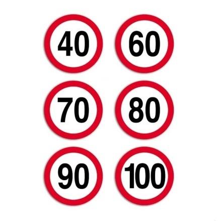знаки, ограничивающие скорость движения