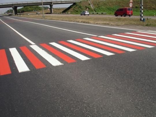 для обозначения зоны пешеходного перехода