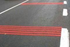 для обозначения участков проезжей части
