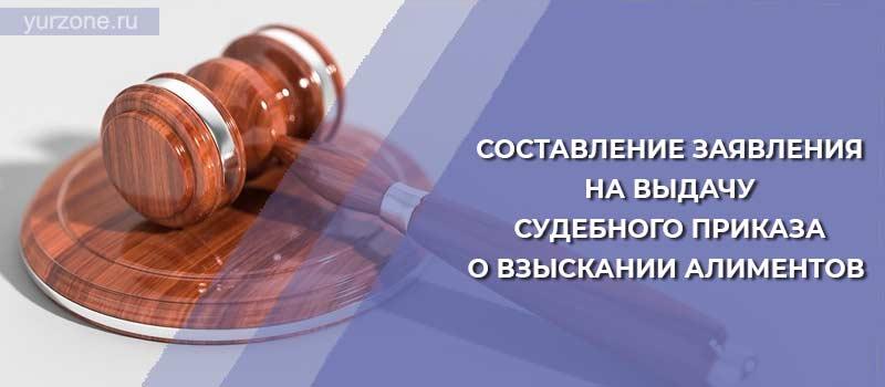 Составление заявления на выдачу судебного приказа о взыскании алиментов