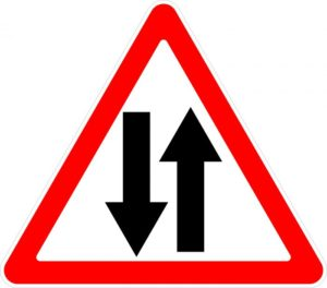 Знак 1.21 Начало встречного движения